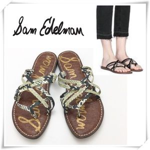 Sam Edelman Georgette Snakeskin Embossed Sandal
